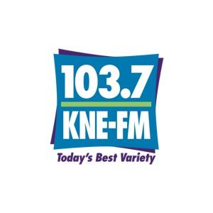 103.7 KNE-FM logo